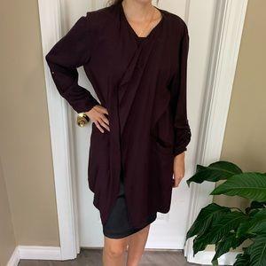 H&M Burgundy soft fabric jacket size 12